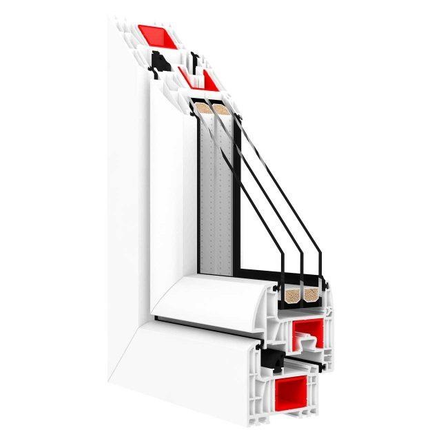 Kunststofffenster Drutex Iglo Energy Profil Weiss
